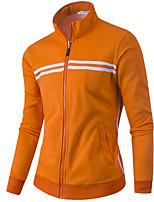 cheap -Men's Simple Long Sleeves Sweatshirt - Striped, Print Stand