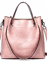 cheap -Women's Bags PU Tote Beading for Casual All Seasons Blue Black Blushing Pink Dark Brown