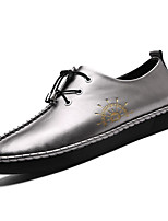 cheap -Men's Shoes Synthetic Microfiber PU Winter Spring Comfort Oxfords for Casual Black Gray Brown