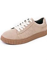 abordables -Homme Chaussures Daim Printemps Automne Confort Basket pour Décontracté De plein air Noir Amande