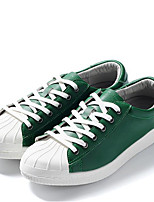 baratos -Homens sapatos Couro Ecológico Inverno Outono Conforto Tênis para Casual Preto Vermelho Verde