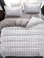 cheap -Duvet Cover Sets Stripes/Ripples 3 Piece Poly/Cotton Polyster Reactive Print Poly/Cotton Polyster 1pc Duvet Cover 1pc Sham 1pc Flat Sheet