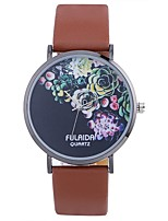 cheap -Women's Unique Creative Watch Fashion Watch Casual Watch Chinese Quartz Casual Watch PU Band Flower Fashion Black White Blue Red Orange