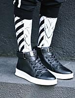 abordables -Homme Chaussures Similicuir Hiver Automne Confort Basket pour Décontracté Blanc Noir