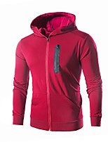 cheap -Men's Plus Size Sports Slim Hoodie - Color Block Hooded