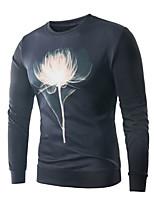 cheap -Men's Plus Size Slim Sweatshirt Activewear Set - Color Block, Print