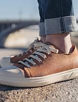 Недорогие -Муж. обувь Кожа Весна Удобная обувь Кеды для Повседневные Черный Коричневый Синий Темно-русый