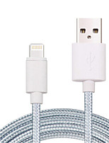 cheap -Lightning USB Cable Adapter Quick Charge High Speed Cable For iPhone 200 cm Nylon