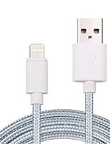 preiswerte -Beleuchtung USB-Kabeladapter Schnelle Aufladung High-Speed Kabel Für iPhone 200 cm Nylon