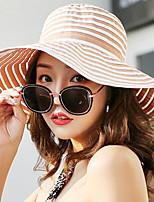 cheap -Women's Cute Cotton Beanie / Slouchy - Striped Bow