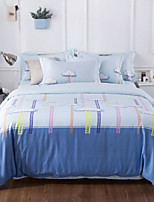 cheap -Duvet Cover Sets Contemporary 4 Piece Poly/Cotton 100% Cotton Reactive Print Poly/Cotton 100% Cotton 1pc Duvet Cover 2pcs Shams 1pc Flat