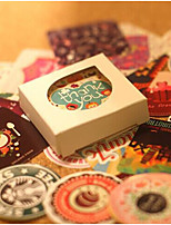 cheap -Vintage Theme Stickers, Labels & Tags - 38 Circular Square Shape Stickers All Seasons