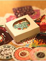 baratos -Tema vintage Etiquetas, Etiquetas e tags - 38 Circular Forma quadrada Autocolantes Todas as Estações