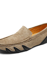 cheap -Men's Shoes Pigskin Spring Fall Driving Shoes Loafers & Slip-Ons Rivet for Casual Black Gray Brown Khaki