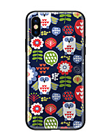 baratos -Capinha Para Apple iPhone X iPhone 8 Estampada Capa traseira Corujas Rígida Vidro Temperado para iPhone X iPhone 8 Plus iPhone 8 iPhone 7