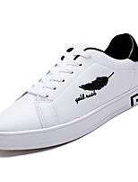 Недорогие -Муж. обувь Резина Весна Осень Удобная обувь Кеды для на открытом воздухе Черно-белый Wit En Groen