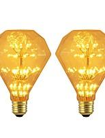 baratos -BRELONG® 2pcs 3W 300 lm E26/E27 Lâmpada Redonda LED 47 leds SMD Estrelado Decorativa Amarelo 220-240V