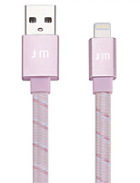 cheap -Lightning USB Cable Adapter Quick Charge High Speed Flat Cable For iPhone 120 cm Nylon