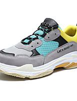baratos -Homens sapatos Tule Primavera Verão Conforto Tênis para Casual Ao ar livre Branco Preto Cinzento Cinzento Claro