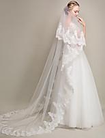 preiswerte -Einschichtig Moderner Stil Blumen Stil Accessoires Spitzen-Saum überdimensional Brautkleidung Prinzessin Europäisch Spitze Hochzeit