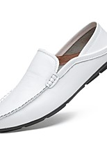 cheap -Men's Shoes Cowhide Summer Driving Shoes Loafers & Slip-Ons for Casual White Black Brown Blue