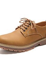 Недорогие -Муж. обувь Кожа Наппа Leather Весна Осень Обувь для дайвинга Удобная обувь Туфли на шнуровке Для прогулок для Повседневные Коричневый