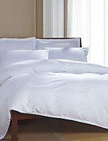 cheap -Duvet Cover Sets Solid Colored Poly / Cotton 100% Cotton Yarn Dyed 3 Piece