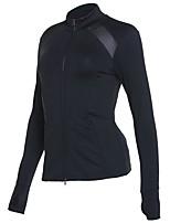 abordables -Femme Veste de Course Manches Longues Séchage rapide Shirt pour Coton Noir S M L XL