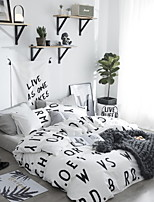 cheap -Duvet Cover Sets Slogan 4 Piece Poly/Cotton 100% Cotton Reactive Print Poly/Cotton 100% Cotton 1pc Duvet Cover 2pcs Shams 1pc Flat Sheet