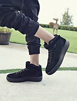 cheap -Men's Shoes Leatherette Winter Fall Comfort Sneakers for Casual Black Gray