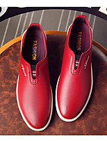 cheap -Men's Shoes PU Fall Comfort Loafers & Slip-Ons for Casual Black Red