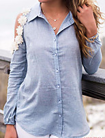 cheap -Women's Polyester T-shirt - Solid