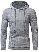 cheap -Men's Hoodie - Solid Check, Print