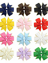 cheap -Pins Hair Accessories Satin Wigs Accessories Girls' 12pcs pcs cm Daily Cute Kids Ribbon
