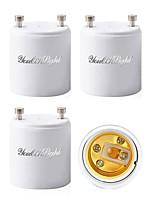 Недорогие -YouOKLight 4шт GU 24 - E27 / E26 Конвертер Аксессуары для ламп Световой разъем пластик