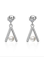 cheap -Women's Cubic Zirconia Pearl Pearl Zircon Gold Plated Stud Earrings - Fashion Geometric For Wedding Daily