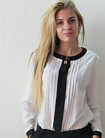 cheap -Women's Flare Sleeve Shirt - Solid Crew Neck