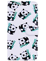cheap -Case For Apple iPhone X iPhone 6 Card Holder Flip Pattern Full Body Cases Panda Hard PU Leather for iPhone X iPhone 8 Plus iPhone 8