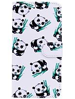 preiswerte -Hülle Für Apple iPhone X iPhone 6 Kreditkartenfächer Flipbare Hülle Muster Ganzkörper-Gehäuse Panda Hart PU-Leder für iPhone X iPhone 8