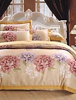cheap -Duvet Cover Sets Floral Luxury 100% Cotton Cotton Jacquard Jacquard 4 Piece