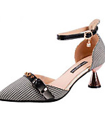 cheap -Women's Shoes Synthetic Spring Summer Comfort Heels Cone Heel for Office & Career Black Brown