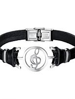 preiswerte -Herrn Armband Freizeit Cool Leder Aleación Musiknote Schmuck Alltag Verabredung Modeschmuck