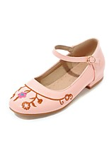 Недорогие -Жен. Обувь Дерматин Весна Осень С ремешком на лодыжке Удобная обувь Обувь на каблуках На толстом каблуке Круглый носок Пряжки для
