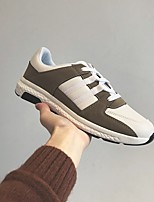 cheap -Men's Shoes Leatherette Spring Fall Comfort Sneakers for Casual Black Almond White/Blue