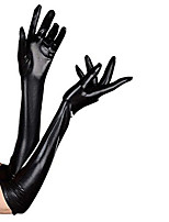 Недорогие -Перчатки Ниндзя Костюмы зентай Косплэй костюмы Черный Однотонный Перчатки Спандекс клей Муж. Жен. Хэллоуин Маскарад