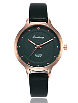cheap -Women's Quartz Fashion Watch Casual Watch PU Band Casual Minimalist Black White Brown Dark Green