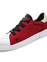 Недорогие -Муж. обувь Полиуретан Весна Осень Удобная обувь Кеды для Повседневные Черный Бежевый Красный