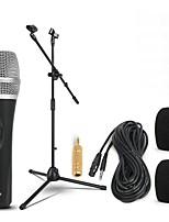 Недорогие -KEBTYVOR DH1 Проводное 6,3 мм Микрофон Микрофон студийный микрофон Подставки Динамический микрофон Ручной микрофон Назначение Микрофон