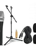 abordables -KEBTYVOR DH1 Câblé 6.3mm Microphone Micro microphone studio Supports Microphone Dynamique Microphone à Main Pour Microphone de Karaoké