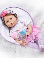 cheap -Reborn Doll Baby 22inch Silicone - Newborn, lifelike, Cute Unisex Kid's Gift